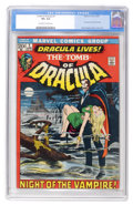 Bronze Age (1970-1979):Horror, Tomb of Dracula #1 (Marvel, 1972) CGC VF+ 8.5 Off-white to whitepages....