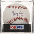 Autographs:Baseballs, George Kell Single Signed Baseball PSA Mint 9....