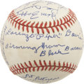 Autographs:Baseballs, Birmingham Black Barons Team Signed Reunion Ball. ...