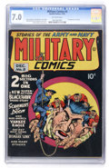Golden Age (1938-1955):War, Military Comics #5 (Quality, 1941) CGC FN/VF 7.0 Off-whitepages....
