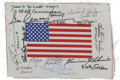 Autographs:Celebrities, Thirteen Apollo Astronauts: American Flag on Beta Cloth Signed....