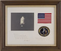 Explorers:Space Exploration, Apollo 14 Flown American Flag and Mission Patch Directly from thePersonal Collection of Mission Backup Command Module Pilot R...