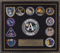 Explorers:Space Exploration, Apollo Astronauts Patches Framed Display, Serial Number 1060, Directly from the Personal Collection of Astronaut Ron Evans....