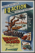 "Movie Posters:Crime, Bandit Island (Lippert, 1953). One Sheet (27"" X 41"") 3-D Style.Crime.. ..."