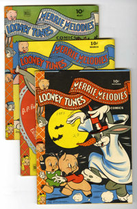 Looney Tunes and Merrie Melodies Comics Short Box Group (Dell, 1943-53) Condition: Average VG
