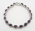 Silver Smalls:Other , A MEXICAN SILVER AND AMETHYST QUARTZ NECKLACE. Antonio Pineda,Taxco, Mexico, circa 1953. Marks: (Antonio crown), .970,HE...