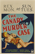 "Movie Posters:Crime, The Canary Murder Case (Paramount, 1929). Window Card (14"" X 22"")..... (Total: 11 Item)"
