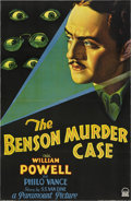 "Movie Posters:Mystery, The Benson Murder Case (Paramount, 1930). One Sheet (27"" X 41"").. ..."