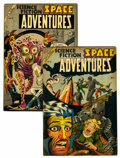 Golden Age (1938-1955):Science Fiction, Space Adventures #10 and 12 Group (Charlton, 1954).... (Total: 2Comic Books)