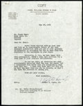 Golf Collectibles:Autographs, Bobby Jones Signed Letter. ...