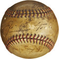 Autographs:Baseballs, Jimmie Foxx Single Signed Baseball. ...