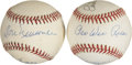 Autographs:Baseballs, Brooklyn Dodgers Signed Baseballs Lot Of 2. ...