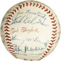 Autographs:Baseballs, 1956 St. Louis Cardinals Team Signed Baseball. ...