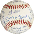 Autographs:Baseballs, 1961 New York Yankees Reunion Team Signed Baseball. ...