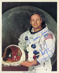 Autographs:Celebrities, Neil Armstrong Color Photo Signed....