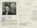 Autographs:Celebrities, Neil Armstrong Boy Scouts of America Program Signed...