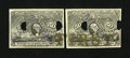 Fractional Currency:Second Issue, Milton 2E50F.2 50¢ Second Issue Essays Cut Pair Extremely Fine....(Total: 2 notes)