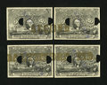 Fractional Currency:Second Issue, Milton 2E50F.2 50¢ Second Issue Essay Cut Block of Four ExtremelyFine. ... (Total: 4 notes)