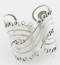 A MEXICAN SILVER CUFF William Spratling, Taxco, Mexico, circa 1940 Marks: WES, SPRATLING, MADE IN MEXICO, SP