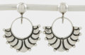 Silver Smalls:Other , A PAIR OF MEXICAN SILVER EARRINGS. Margot van Voorhies Carr, Taxco,Mexico, circa 1950. Marks: MARGOT DE TAXCO, 5269, STER...(Total: 2 Items)