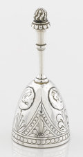 Silver Flatware, American:Shiebler, AN AMERICAN SILVER DINNER BELL. George W. Shiebler & Co., NewYork, New York, circa 1880. Marks: (winged S), STERLING,774...