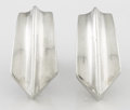 Silver Smalls:Other , A PAIR OF MEXICAN SILVER EARRINGS. Antonio Pineda, Taxco, Mexico,circa 1953. Marks: (Antonio crown), .970, HECHO EN MEXIC...(Total: 2 Items)