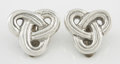 Silver Smalls:Other , A PAIR OF MEXICAN SILVER EARRINGS. Successor of William Spratling,Taxco, Mexico, circa 1970. Marks: WS .925, WILLIAM SPRA...(Total: 2 Items)