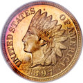 Proof Indian Cents, 1897 1C PR67 Red Cameo PCGS....
