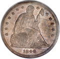 Seated Dollars, 1846-O $1 MS63 PCGS....