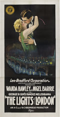 "Movie Posters:Crime, Lights of London (Gaumont British, 1923). Three Sheet (41"" X 81"")....."