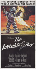 """Movie Posters:Science Fiction, The Invisible Boy (MGM, 1957). Three Sheet (41"""" X 81"""").. ..."""