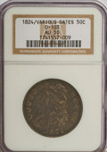 Bust Half Dollars: , 1824 50C Overdate AU50 NGC. O-103. NGC Census: (3/48). PCGSPopulation (7/64). Numismedia Wsl. Price for NGC/PCGS coin in ...