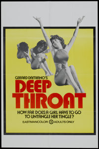 "Deep Throat Lot (Aquarius Releasing, 1972). Posters (3) (25"" X 38""). Adult. ... (Total: 3 Items)"