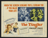 """The Tingler (Columbia, 1959). Title Card and Lobby Cards (3) (11"""" X 14""""). Horror. ... (Total: 4 Items)"""