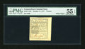 Colonial Notes:Connecticut, Connecticut October 11, 1777 7d PMG About Uncirculated 55 EPQ....