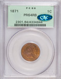 Proof Indian Cents: , 1871 1C PR64 Red and Brown PCGS. CAC. PCGS Population (90/43). NGC Census: (52/55). Mintage: 960. Numismedia Wsl. Price for...