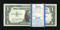 Small Size:Silver Certificates, Fr. 1621* $1 1957B Silver Certificate Stars. 100 Examples. Choice Crisp Uncirculated.. ... (Total: 100 notes)