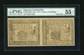 Colonial Notes:Delaware, Delaware May 1, 1777 18d, 20s Uncut Vertical Pair PMG AboutUncirculated 55 EPQ.... (Total: 2 notes)