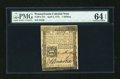 Colonial Notes:Pennsylvania, Pennsylvania April 3, 1772 1s PMG Choice Uncirculated 64 EPQ....