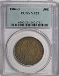 Barber Half Dollars: , 1904-S 50C VF25 PCGS. PCGS Population (7/79). NGC Census: (2/42).Mintage: 553,038. Numismedia Wsl. Price for NGC/PCGS coin...