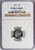 Proof Roosevelt Dimes, 1956 10C PR68 ★ Cameo NGC. NGC Census: (115/53). PCGS Population(90/10). Numismedia Wsl...