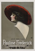 "Movie Posters:Drama, Paid in Full (Paramount, 1919). One Sheet (27"" X 41"").. ..."