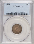 Bust Dimes: , 1836 10C F15 PCGS. PCGS Population (2/183). NGC Census: (0/177).Mintage: 1,190,000. Numismedia Wsl. Price for NGC/PCGS coi...