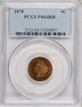 Proof Indian Cents: , 1878 1C PR64 Red and Brown PCGS. PCGS Population (141/47). NGC Census: (79/60). Mintage: 2,350. Numismedia Wsl. Price for N...
