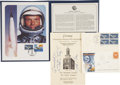 Autographs:Celebrities, John Glenn Philatelic Covers and Program Signed.... (Total: 5 Items)