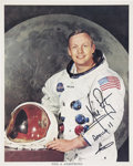 Autographs:Celebrities, Neil Armstrong Color Photo Signed, Not Inscribed....