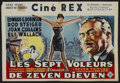 "Movie Posters:Crime, Seven Thieves (20th Century Fox, 1959). Belgian (14.5"" X 21.5""). Crime.. ..."
