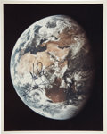 Autographs:Celebrities, Neil Armstrong Color Earth Photo Signed....