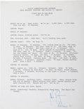 Autographs:Celebrities, Neil Armstrong July 20, 1969 CapCom Transcript Signed....