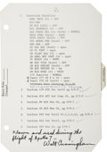 Explorers:Space Exploration, Apollo 7 Flown LMP Flight Checklist Page Originally from thePersonal Collection of Mission Lunar Module Pilot WaltCunningham...
